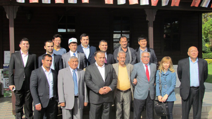 Mr. Aytmatov and Mr. Arslanbek Sultanbekov visited the Topkapı Turkish World