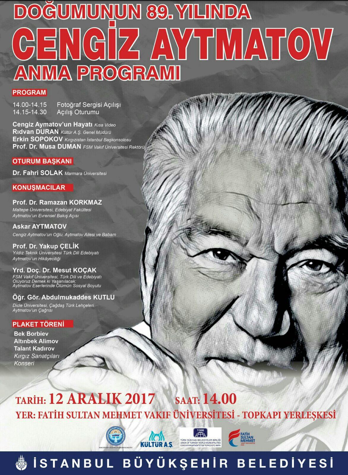 Cengiz Aytmatov Doğumunun 89. Yıldönümünde Anılıyor Galeri - 1. Resim