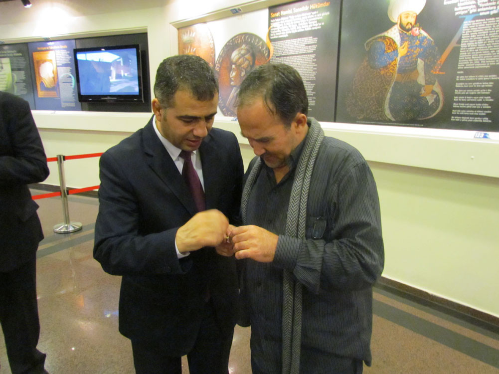Mr. Aytmatov and Mr. Arslanbek Sultanbekov visited the Topkapı Turkish World Galeri - 46. Resim