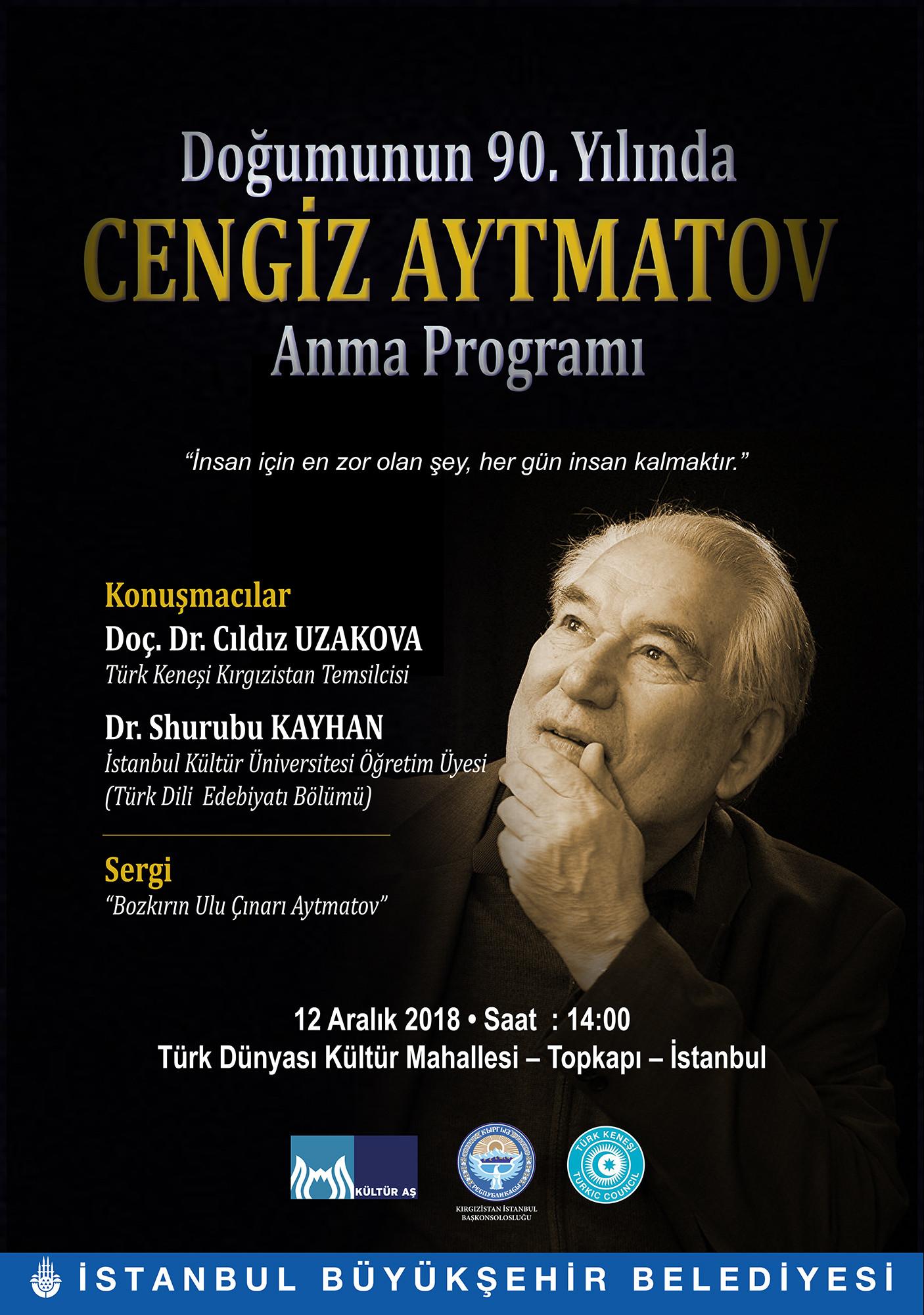 İBB'den Doğumunun 90. Yılında Cengiz Aytmatov Anma Programı Galeri - 1. Resim