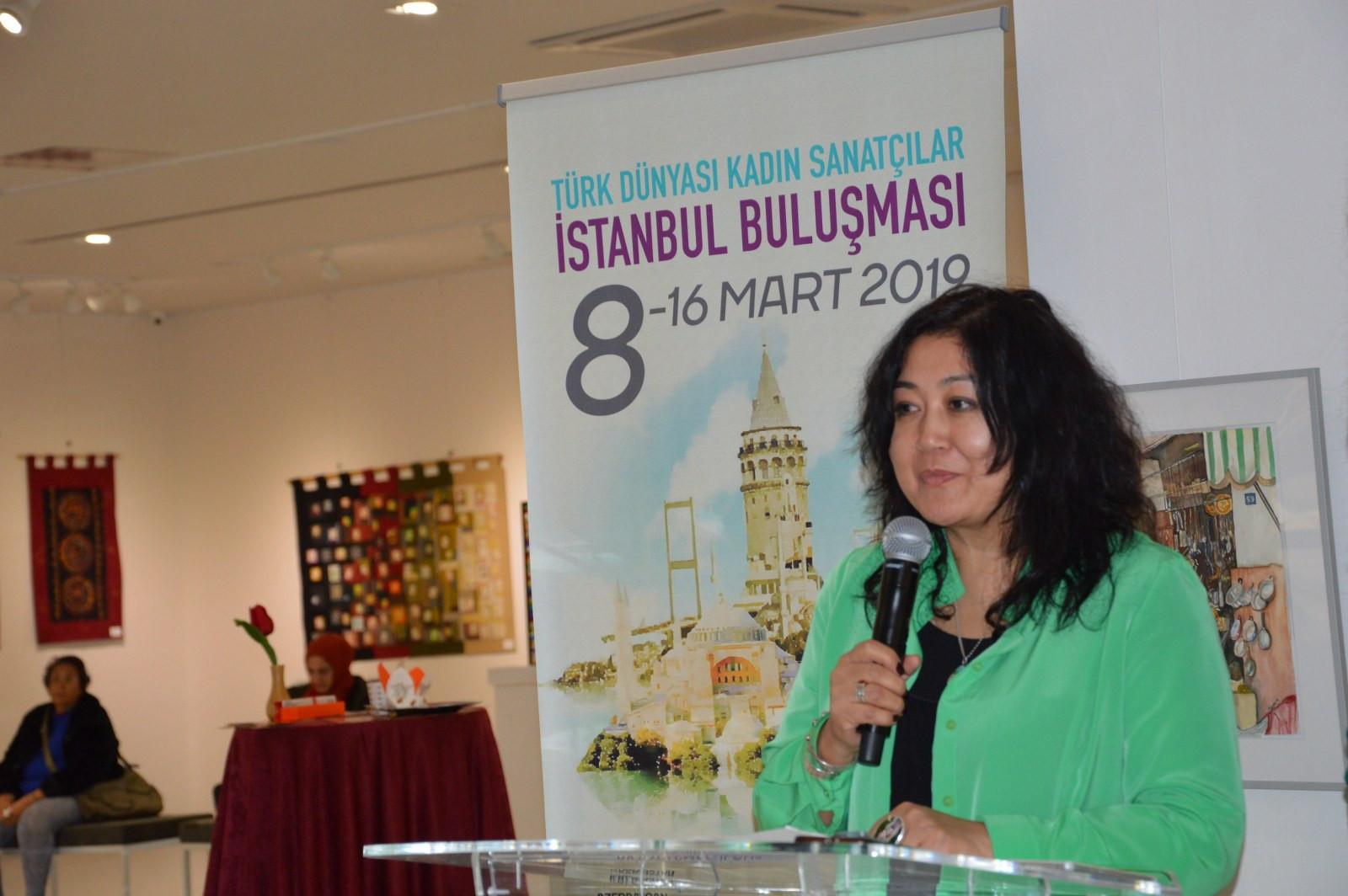 Türk Dünyasından Kadın Sanatçılar İstanbul'da Buluştu Galeri - 3. Resim